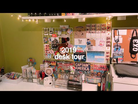 2019 DESK TOUR + STATIONERY ORGANIZATION! *:・゚✧ | kkinotes