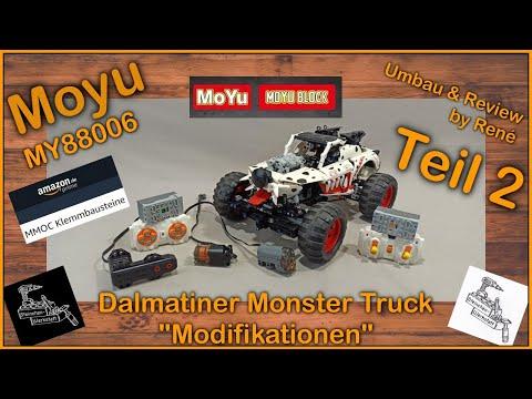 Trotz Umbau und Modifikation, viel Potenzial aber .... naja   Dalmatiner Monster Truck von Moyu