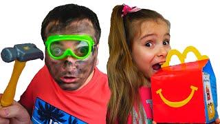 Папа и дети - история для детей про вредные сладости / Magic McDonald's Happy Meal