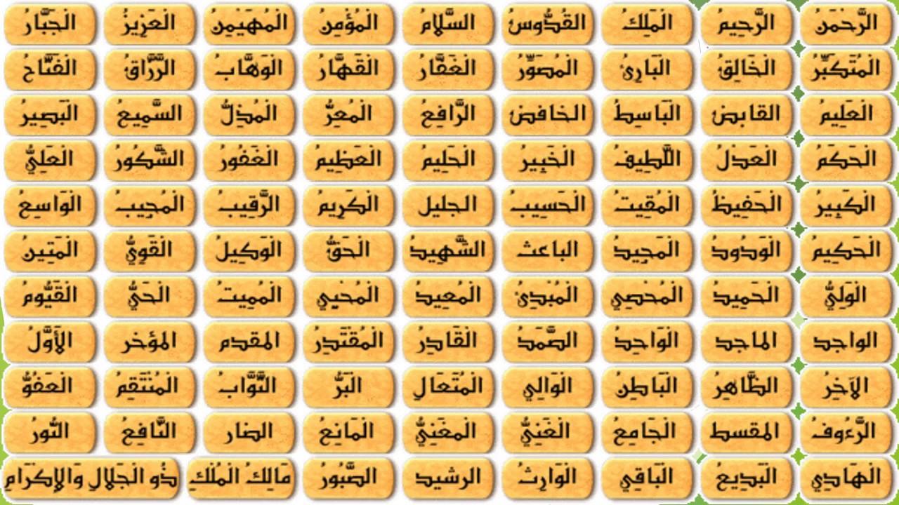 image asmaa allah alhosna