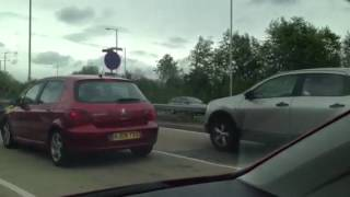 Woman Reversing Up A404 Slip Road Back Onto Roundabout