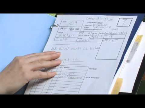 Script Supervisor Dylaine Bovaird explains continuity notes - YouTube