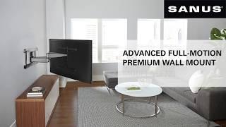 "SANUS VLF728 Features Video - ADVANCED FULL-MOTION PREMIUM WALL MOUNT FOR TVS 42""- 90"""