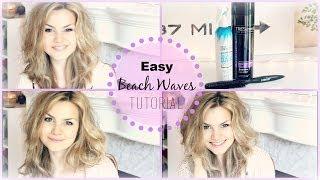 Easy Beach Waves Tutorial Thumbnail