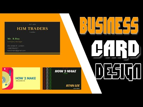 How to Make Business Card / Visiting Card Easily || Step By Step Tutorial thumbnail