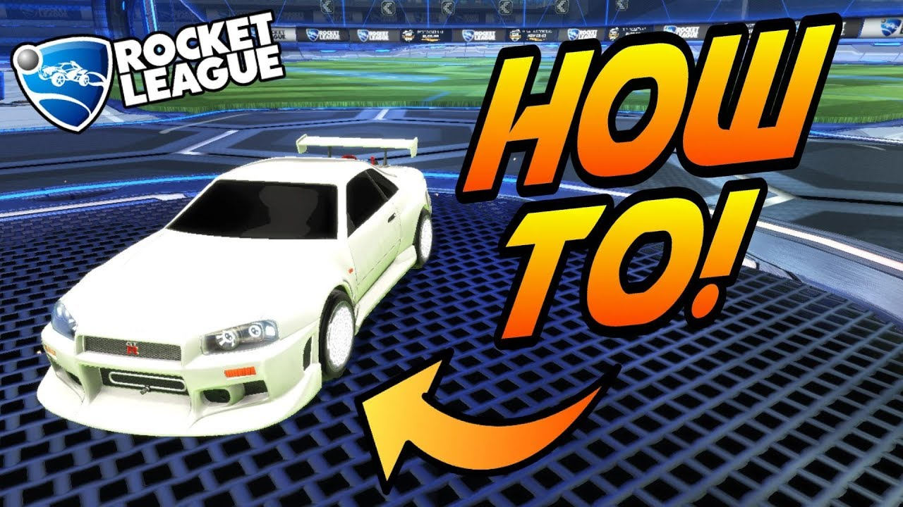 rocket league how to get white car