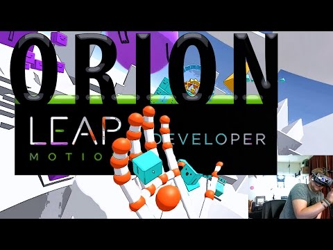 Orion VR Beta - Leap Motion Hand Control - Complete Test with Apps!