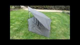 Pup Tent Lean to and Ground Sheet Setup