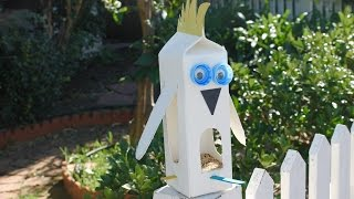 Easy Craft: Make An Upcycled Bird Feeder