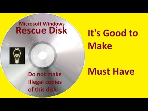 Windows Recovery Disk || Create Your Own Recovery Disk For Windows By Innovative Ideas