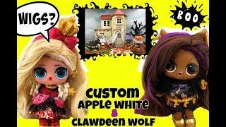 LOL Surprise Dolls TRICK OR TREAT Clawdeen Wolf & Apple White GG CUSTOM HALLOWEEN COSTUME 🎃 WIGS TOO