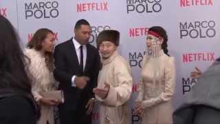 Марко Поло киноны нээлтэн дээр Амарсайхантай хийсйэн ярилцлага