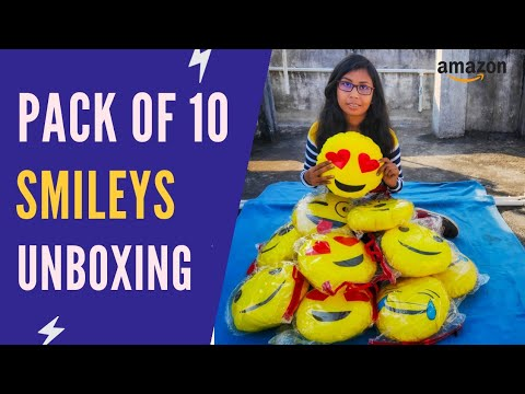 Emoji Cushions Pillows Unboxing | Smiley Cushions Unboxing Amazon | Emoji Pillow Unboxing Hindi