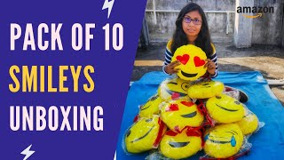 Emoji Cushions Pillows Unboxing Smiley Cushions Unboxing Amazon Emoji Pillow Unboxing Hindi