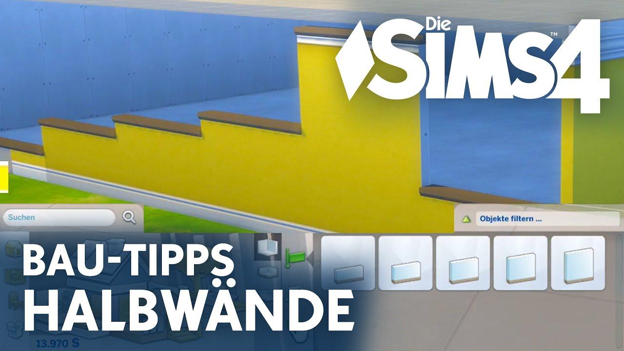 Die Sims 4 Bau-Modus Tipps: Halbwände bauen & Türen ...