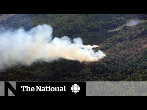 Ontario Forest Fire Burning Out Of Control