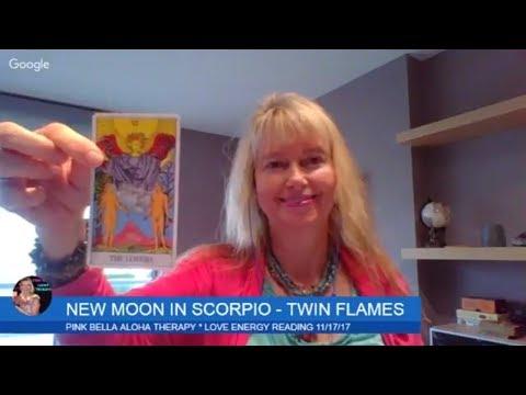TWIN FLAMES!! NEW MOON IN SCORPIO * LOVE CHAKRA ENERGY * DF/DM 3D/5D 11/17/17