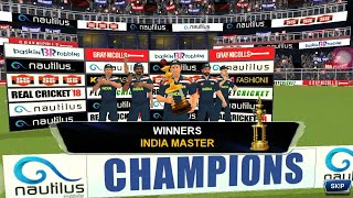 Real cricket 18-Master Cup match game play