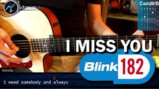 "Cómo tocar ""I Miss You"" de Blink 182 en Guitarra Acústica (HD) Tutorial - Christianvib"