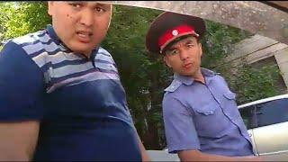 Нападение милиции на водителя в Бишкеке.