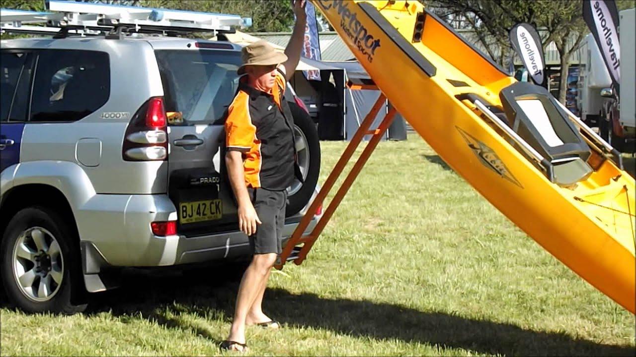 Strong Arm Kayak Loader Loading A Hobbie Kayak