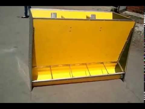 Кормовой автомат для свиней (бункерная кормушка)