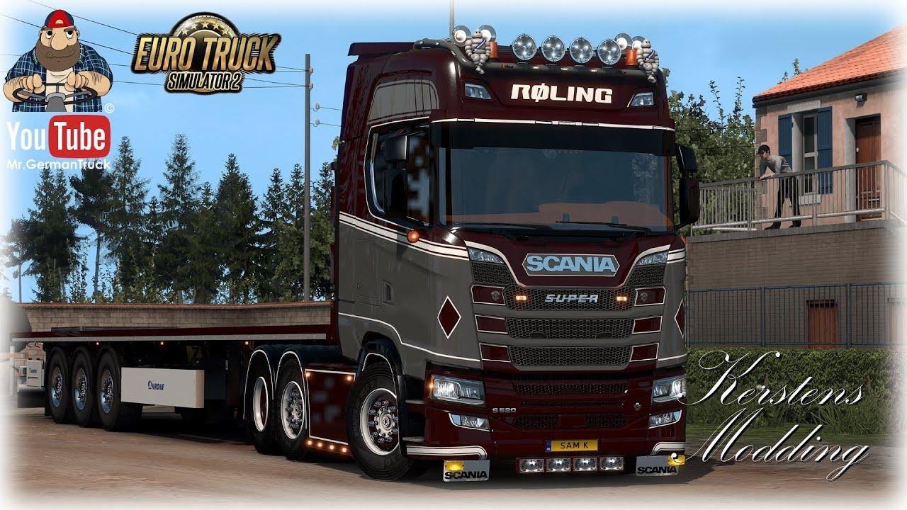 [ETS2 v1.36] Scania S Next Gen Røling Transport A/S *SkinWork + ALL Parts*