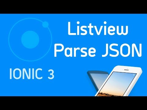 Ionic 3 Tutorial #7 List view & parse json via http - YouTube