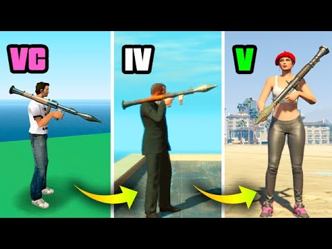 HOW The ROCKET LAUNCHER Has CHANGED GTA GAMES 1997-2019 (RPG Evolution)