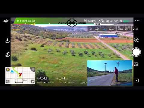 DJI Phantom 3 SE CE to FCC mode first test - High Wind Velocity - [GREEK]