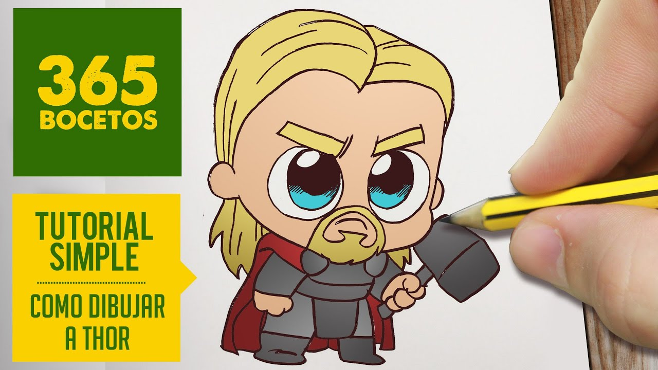 Como Dibujar Thor Kawaii Paso A Paso Kawaii Facil How To Draw