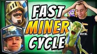 PRINCE IS TOO POWERFUL! Miner Control Cycle Deck — Clash Royale