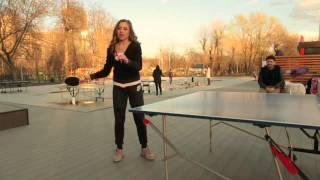 Настольный теннис. Топ-спин. Как делать топ-спин. Наталья Шохова