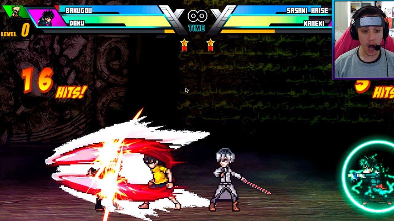BOTEI Kaneki VS. Deku e Bakugou e isso aconteceu... ( Anime Battle ) | Sky