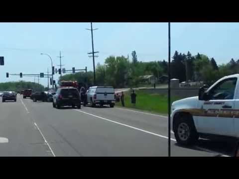 Bad 3 Car Accident Buffalo MN HWY 55 5-25-14 Memorial Day Weekend Wright County Minnesota Auto Crash