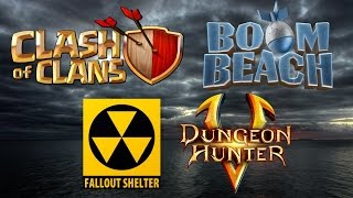 MOBILE GAMING EXPLOSION [1] ★ Clash of Clans, Boom Beach, Fallout Shelter, Dungeon Hunter 5 LIVE!