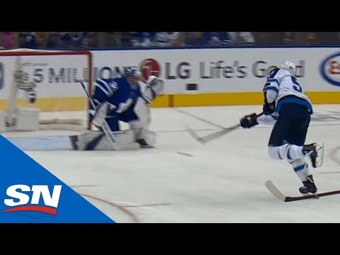 Scheifele Steals Puck From Leafs, Scores For Jets