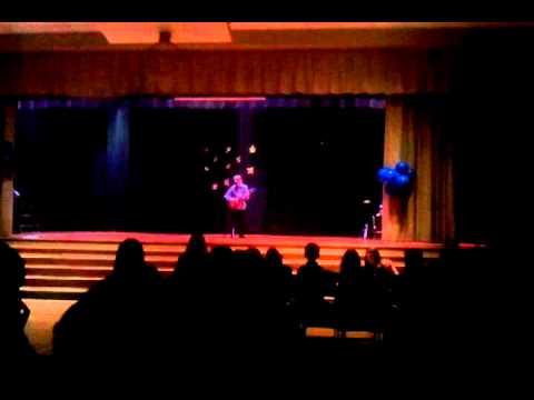 Tristan at Eddystone Elementary School talent show
