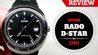 (4K) RADO DIVER D-STAR MEN'S WATCH REVIEW MODEL: R15959159