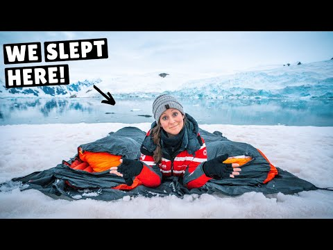 WE SLEPT OUTSIDE IN ANTARCTICA! (camping in the snow)