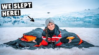 WE SLEPT OUTSIDE IΝ ANTARCTICA! (camping in the snow)