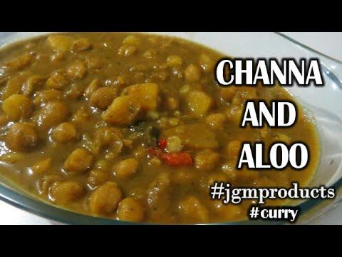 Curry Channa (Chickpeas) and Aloo (Potato) -Trinidad|Vegetarian|Caribbean Jenna G The Hijabi TT