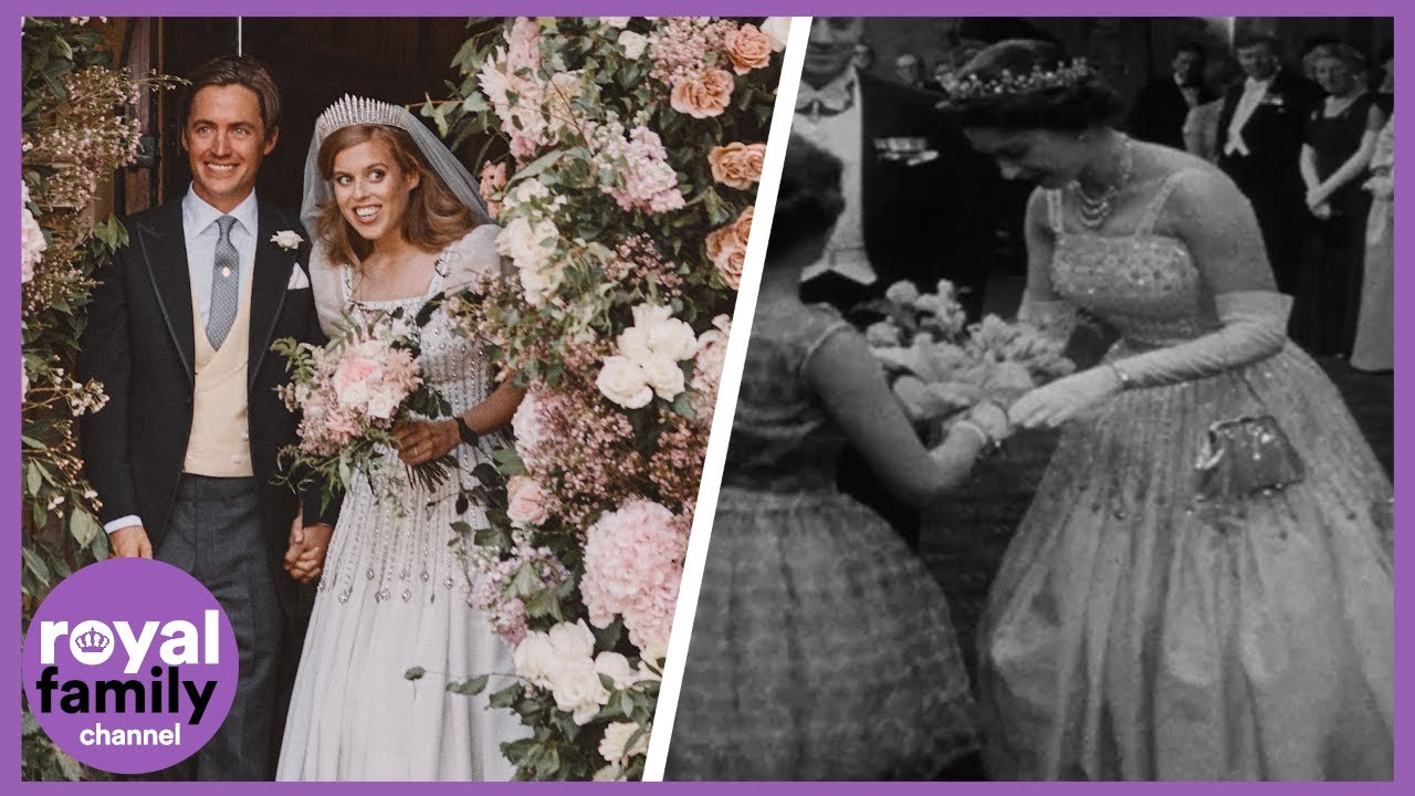 Princess Beatrice S Beautiful Wedding Dress And Tiara Borrowed