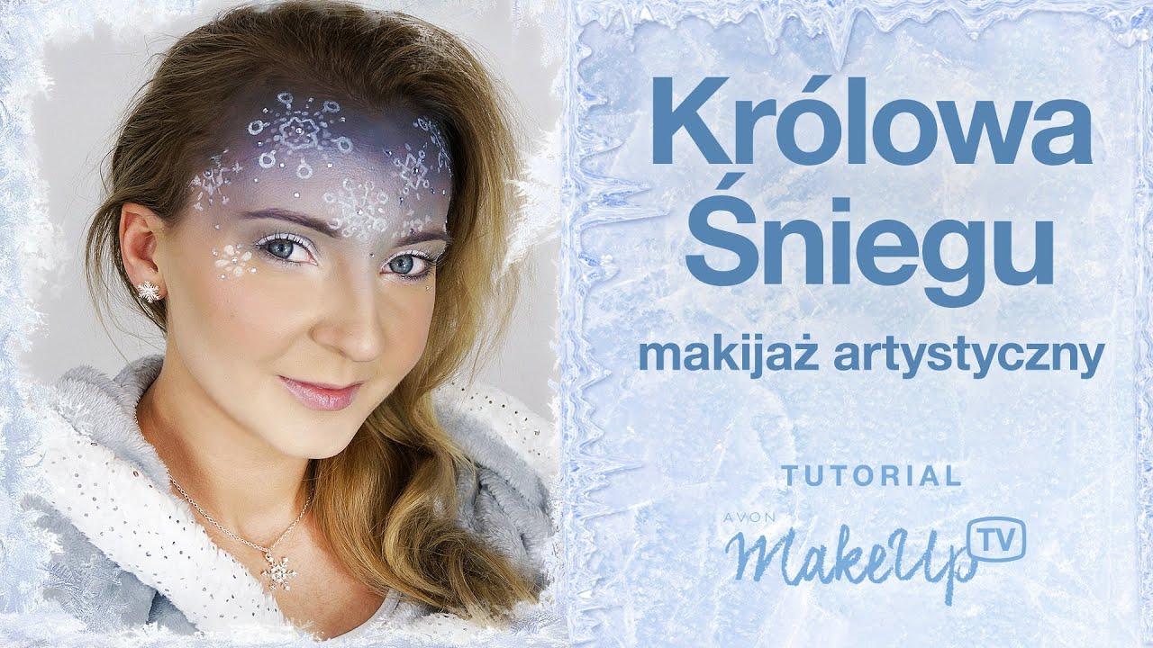 Królowa śniegu Makijaż Artystyczny W Zimowym Klimacie Karolina