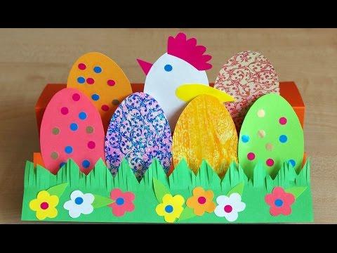 Поделки с детьми к Пасхе. Зайчик - держатель для яйца. Видео урок