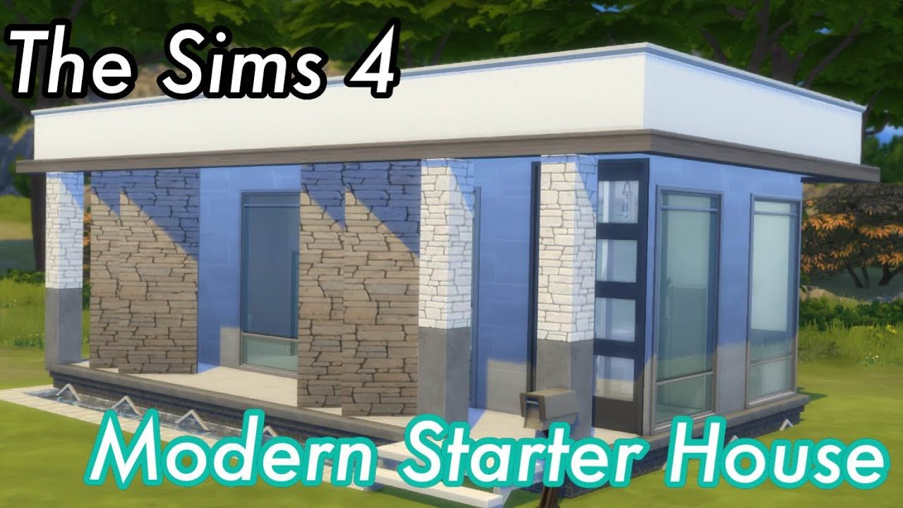 The Sims 4 - Let's Build - Modern Starter House - YouTube