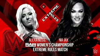 Wwe extreme rules Nia jax vs alixa bless and Ronda rousey and natalaya interfare