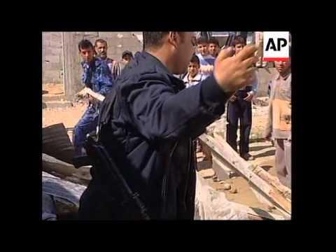 Israeli rocket attack on Palestinian targets in Gaza