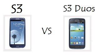 S3 vs S3 Duos / Comparativo de Características / DavidTecNew