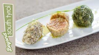 Tris di Canederli Altoatesini vegetariani | #PurTradition